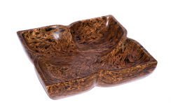 Wooden plate from mango tree. Thai wooden handicraft plate, made from mango tree Stock Image
