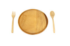 Wooden plate Stock Photo