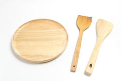 Wooden plate or tray with flipper or spade isolated white background. Wooden plate or tray with flipper or spade isolated on white background Stock Photography