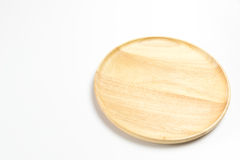Wooden plate or tray isolated white background. Wooden plate or tray isolated on white background Royalty Free Stock Image