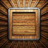 Wooden plate on wall Royalty Free Stock Images