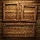 Wooden plate on wall Royalty Free Stock Photos