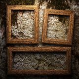 Wooden plate on wall Stock Photography