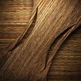 Wooden plate on wall Royalty Free Stock Photo
