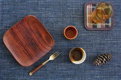 Dining concept flat lay Stock Images
