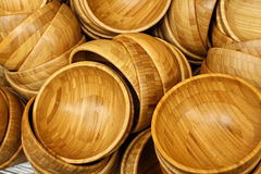Wooden plates Stock Images
