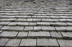 Wooden plates on roof Royalty Free Stock Photography