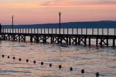 The wooden platform in Dardanelles. Royalty Free Stock Images