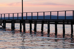 The wooden platform in Dardanelles. Stock Photos
