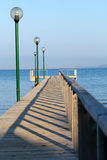The wooden platform in Dardanelles Royalty Free Stock Photos