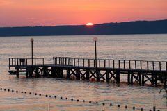 The wooden platform in Dardanelles Stock Photos