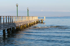 The wooden platform in Dardanelles Stock Photo