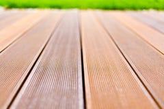 Wooden platform made from bangkirai wood. Stock Image