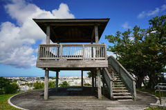 Wooden platform top of View Point Royalty Free Stock Photos