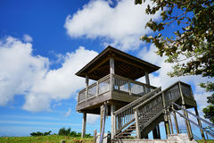 Wooden platform top of View Point Stock Photos