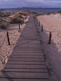 Wooden platform. Which is used by tourists for a tourist route Royalty Free Stock Photography