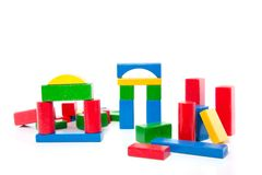 Wooden play blocks Stock Photography