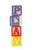 Wooden play blocks Royalty Free Stock Photo