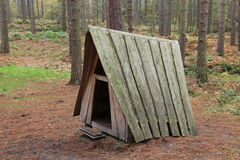 Wooden Play Shelter. Stock Photo
