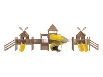 Wooden playground Royalty Free Stock Photo