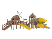 Wooden playground Royalty Free Stock Images