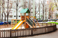 Wooden playground area Royalty Free Stock Image
