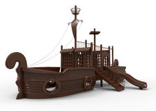 Wooden playground vessle Royalty Free Stock Image