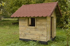 Wooden playhouse Royalty Free Stock Image
