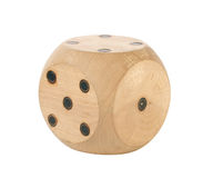 Wooden playing cube Royalty Free Stock Photography