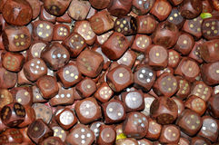 Wooden playing dices Royalty Free Stock Image