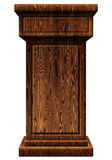 Wooden Podium 3D Illustration Stock Photography
