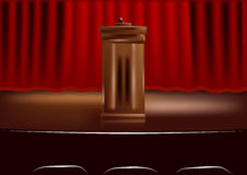 Wooden podium tribune Royalty Free Stock Photos
