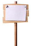 Wooden Pointer With White paper Stock Photos