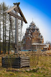 Wooden Pokrovskaya church Royalty Free Stock Image