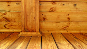 Wooden poles and boards Stock Image
