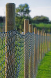 Wooden poles fence Stock Images