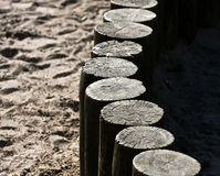 Wooden poles Royalty Free Stock Photography