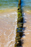 Wooden poles Stock Photo