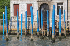 Wooden Poles Venice Royalty Free Stock Photography