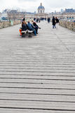Wooden Pont des Arts in Paris Royalty Free Stock Image