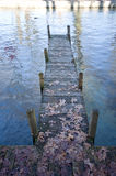 Wooden pontoon Stock Image