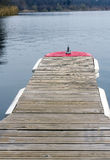 Wooden pontoon Royalty Free Stock Photography