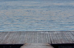 Wooden pontoon Royalty Free Stock Photo