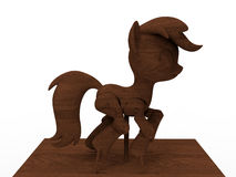Wooden pony toy Stock Images