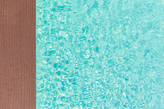 Wooden pool side Royalty Free Stock Photography