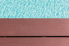 Wooden poolside planks Stock Images