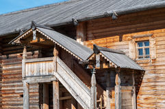 Wooden porch in front of the house Royalty Free Stock Images