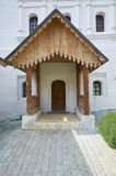 Wooden porch. Photo of wooden porch in the Royal Palace of the Savvino-Storozhevsky monastery Royalty Free Stock Images