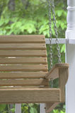 Wooden Porch Swing Stock Photo
