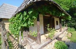 Wooden porch Transylvania Stock Photography